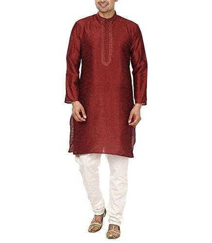 royal-mens-blended-neck-embroidery-designer-kurta-pyjama-set