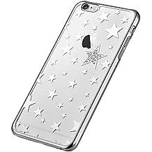 vouni iPhone 6s Plus Case, estrellas Series Crystal estrellas duro Carcasa antigolpes para para Apple iPhone 6Plus/6s Plus De 5,5Pulgadas, Color Plateado