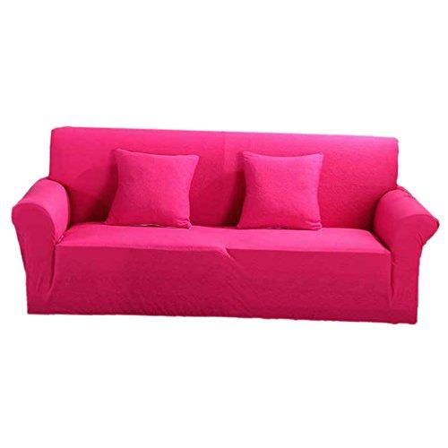 non-brand MagiDeal Elastische Stretch Sofabezüge Sofahusse Couch Sofa Husse, Weich und Bequem für 2er Sofa - Pink