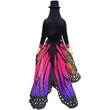 Lnefehsh Lenfesh Atractiva Eye-Catching Gigantes Chal de alas de mariposa Disfraz de desfile de