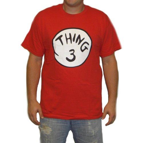 Thing Herren T-Shirt 3Kostüm Dr, Seuss Kinder-Illustration Katze mit in das Design der Minnesota Timberwolves, rot, 06-05-01-03ad XXX-Large