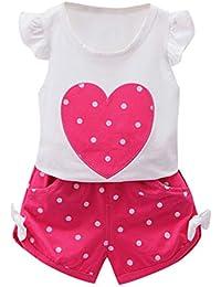 c50d0f3d4e91d Conjunto Bebe Niño Verano Camiseta Manga Corta Recién Nacido Bebé Niño Niña  Tops Camisas y Pantalones