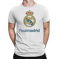 Real Madrid White Round Neck T-Shirt for Unisex
