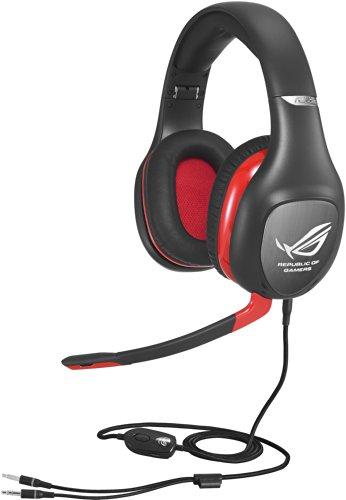 Asus ROG Vulcan Pro Gaming Headset (Aktive Rauschunterdrückung, Externe Soundkarte, Kopfhörerverstärker, 7.1 Virtual Surround Sound) schwarz/rot