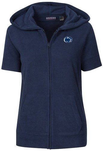 Oxford NCAA Damen Short Sleeve Full Zip Polar Fleece Hoodie, damen, Classic Navy