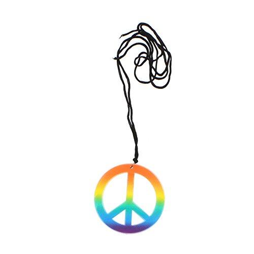 Halskette Kostüm Ein Knalliges - Zac's Alter Ego® - Halskette mit CND-Peace-Symbol - Regenbogenfarben