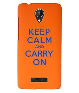 KolorEdge Back Cover For Micromax Canvas Spark Q380 - Orange (1522-Ke15075MmxQ380Orange3D)