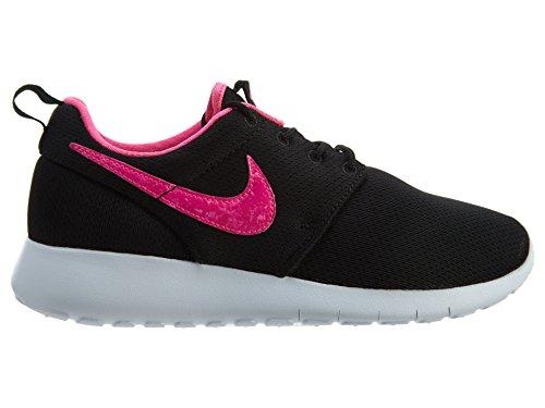 Nike Roshe Run 599729, Mädchen Laufschuhe Training Black/Pink Blast-white