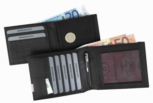 Bodenschatz Bodenschatz 8-777 KN 01 Herren Geldbörsen 12x10x2 cm (B x H x T) Schwarz (Black 01)
