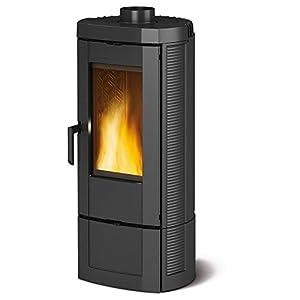 Estufa a leña Nordica Candy revestimiento de fundido Potencia térmica 7.2kW 206M3calefactables–Color Negro