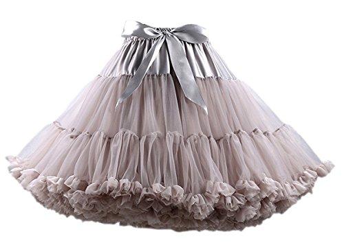 Und Julia Kinder Romeo Kostüm - Honeystore Tanzkleid Ballettrock Kinder Mädchen Damen Tutu Rock Schleife Pettiskirt für Show Party Cosplay Grau One Size