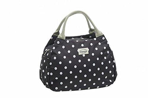 Fahrradtasche midi Tasche Gepäckträger + Sattelbezug Dots 3 Farben Dots schwarz-weiß