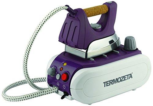Termozeta 74349l mia lilla macchina da stiro con ferro di tipo professionale, manico in sughero