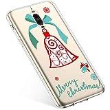 Uposao Handyhülle Huawei Mate 9 Pro Hülle Transparent Silikon Ultra Dünn Schutzhülle Durchsichtig Handyhülle Kristall Weiche Silikon TPU Handytasche Rückschale,Weihnachten Jingle Bell