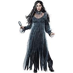 Disfraz De Novia Cadaver Para Mujer Cosplay Novia Zombie Fantasma Halloween Carnaval Negro S