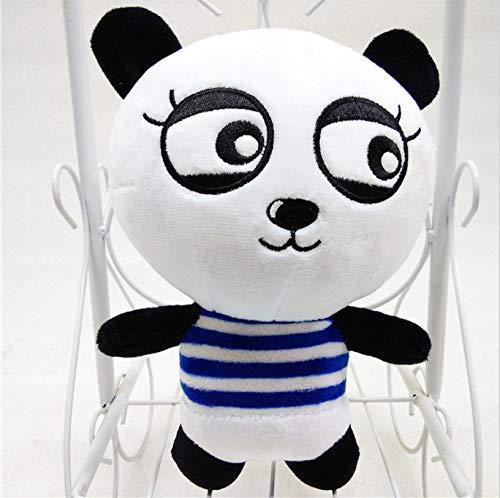 WYBL Divertido Panda de Felpa expresión de Juguete Rico para Amigos niñas Regalos de cumpleaños 20cm niño Azul