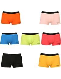Clifton Men's Trunk Underwear Pack Of 7-Lime Green-Mango-Fanta Orange-Peach-Royal Blue-Water Melon-Black-Trunk
