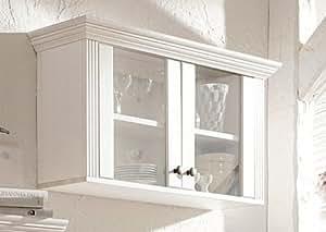 clever moebel vitrine aus kiefernholz wei lackiert h ngeschrank schrank h ngevitrine. Black Bedroom Furniture Sets. Home Design Ideas
