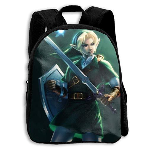 Le-gend von Ze-lda O-Carina von Time Student Stilvolle Schultasche Galaxy Book Bag Laptop Daypack für Kinder Jungen und Mädchen Unisex Fashion Rucksack
