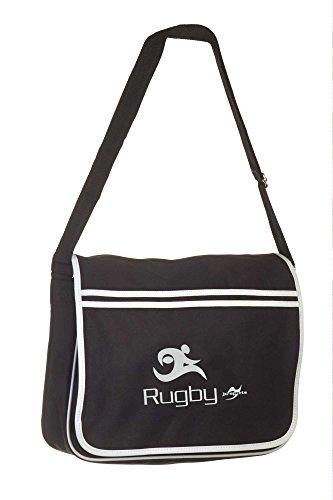 Retro Messenger Bag BG71 schwarz Rugby