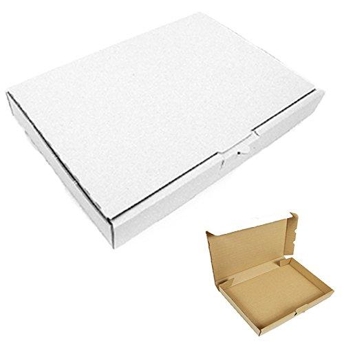 50 Maxibriefkartons 350x250x50mm Weiss Versand Post Faltschachtel MB-5