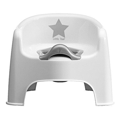 Topftsuhl 'Little Star' weiß/silber
