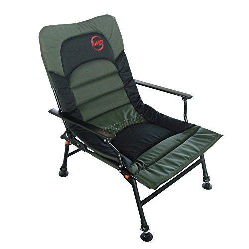 Outdoor Portable Folding Fishing Arm Rests Chair Armchair Recliner C&ing Heavy Duty 4 Adjustable Legs XL Dark Green L65 x W60 x H(97-112)CM  sc 1 st  Awesome Carp Fishing Tackle & Awesome Carp Fishing Tackle | Outdoor Portable Folding Fishing Arm ...
