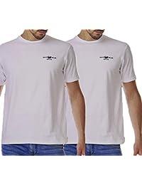 c65ee7486 HARVEY MILLER POLO CLUB Baumwoll-Shirt Schlichte Rundhals Basic Herren T- Shirts im 2er