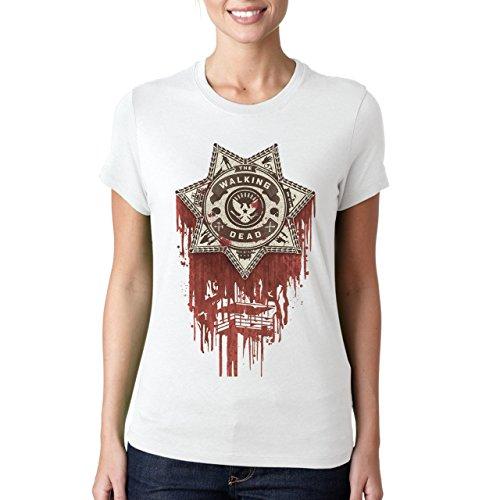 Bloody The Walking Dead Icon Damen T-Shirt Weiß