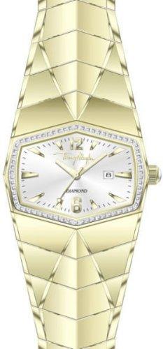 Thierry Mugler 4701802 - Reloj analógico de cuarzo unisex con correa de acero inoxidable, color dorado