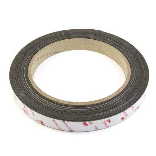 first4magnetsTM 25,4 mm breit x 0,85 mm Dicke Flexible Neodym-Magnet mit 3M Tape selbst Klebstoff (1m Länge), Plastik, Brown, 40 x 20 x 5 cm