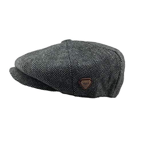 Seemeinthat Erwachsene 8 Panel Flat Cap 1920er XL 59CM 1920er Jahre High Fashion Baker Jungen stylische Gentleman's Hut