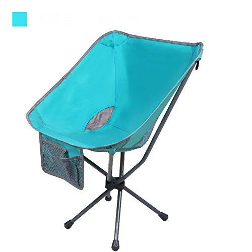 L&J Outdoor Klappstühle, Portable Mini Storage Bequem Rückenlehne Angeln Stuhl, Camping Picknick...