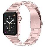 Wealizer für Apple Watch Armband 42mm 44mm 38mm 40mm Edelstahl Metall Dünnes Leichtgewicht Ersatzband für iWatch/Apple Watch Serie 4 Serie 3 Serie 2 Serie 1