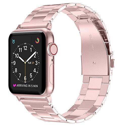 Wealizer für Apple Watch Armband 38mm 40mm Edelstahl Metall Dünnes Leichtgewicht Ersatzband für iWatch/Apple Watch Serie 4 Serie 3 Serie 2 Serie 1 - Rose Gold