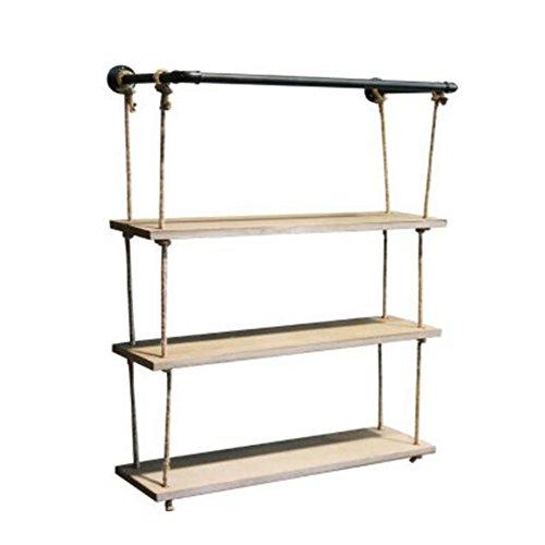 Platz Regal \ Rohrwand \ Industrie Wind Hanf Rack \ Wandbehang Platte \ Rack \ Regal \ Bücherregal \ Wand Display Regal (Farbe : 83 * 23 * 100cm) -
