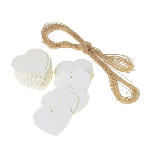Kraftpapier Herzförmige Tags Für Hochzeitsfeier Urlaub Dekorationen ()