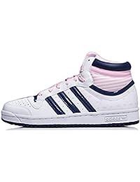 adidas - Zapatillas de cuero para mujer blanco blanco
