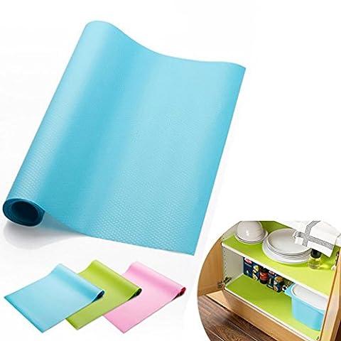IGEMY 30x150CM Oil Resistant Kitchen Drawer Mat Shelf Liner Fridge Cabinet Pastel Pad (Blue)