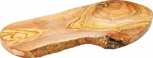 """Utopía jmp988rústico fuente ovalada, madera de olivo presentación, 15,75\"""", 40cm (Pack de 6)"""