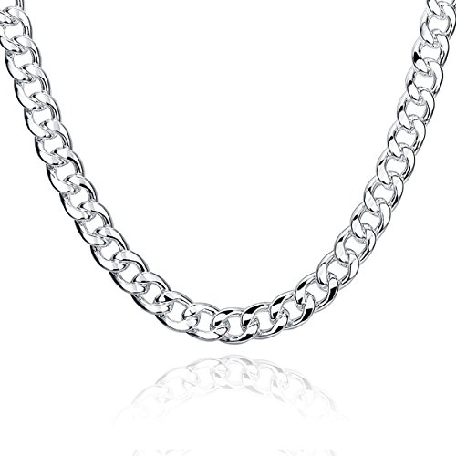 Klassische Mann-Ketten-Halskette 24 Zoll Silber überzogene Geschenke für Männer Borong (Freie Stadt Tragen)