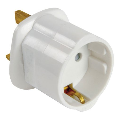 Foto de Genérico E301DB - Adaptador de enchufe EU a UK, blanco