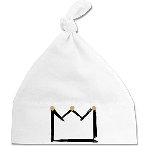 Shirtracer Up to Date Baby - Krone - Unisize - Weiß - BZ15 - Baby Mütze mit...