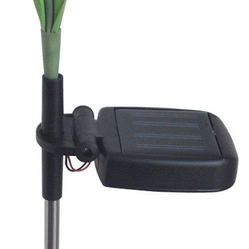 FRE Solarleuchten 4 Kopf Lilien Blumen LED Licht Lampen Garten Rasen Decor – Rot - 6