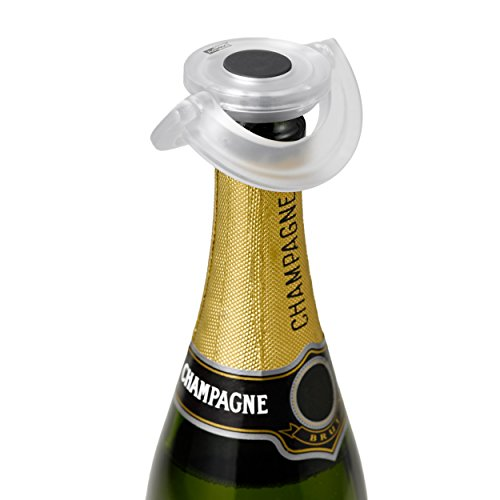 AdHoc Gusto FV33Flaschenverschluss für Sekt- oder Champagnerflaschen, Synthetikmaterial / Silikon, transparent, Ø 8,2cm