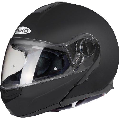 Nexo Motorradhelm, Vollvisierhelm, Klapphelm Touring III Mattschwarz XXS, Unisex, Tourer, Ganzjährig, Thermoplast, matt schwarz