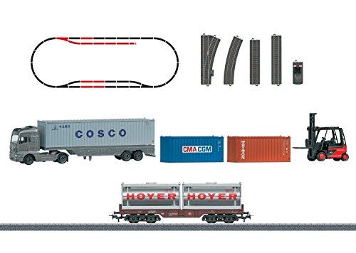 Märklin 78452 - Themen-Ergänzungspackung Containerlogistik, Fahrzeuge (Wagen Gleise Und)