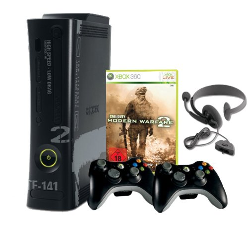 Xbox 360 - Konsole Super Elite 250 GB inkl. 2 Wireless Controller inkl. Call of Duty: Modern Warfare 2 (Cod Modern Warfare 2 Xbox 360)