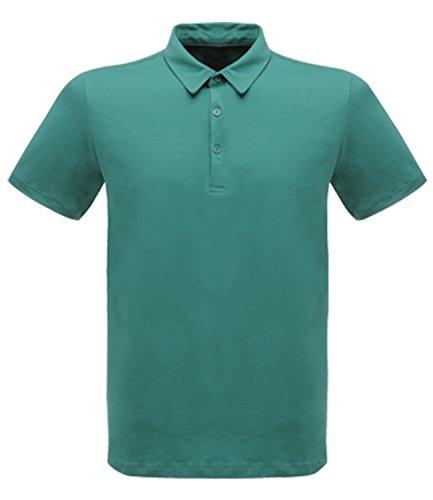 Regatta-Pile da uomo, Classic, 65% 2F35 Workwear-Maglia stile Polo Verde bottiglia