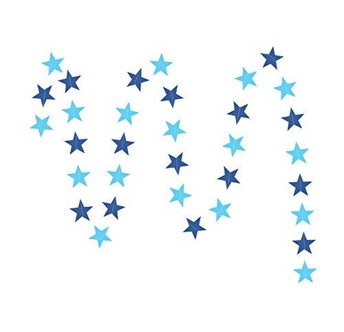 ckige Sternketten String Dekoration für Hochzeit,Party,Geburtstag,Blau,S (Blaue Dekorationen Für Partys)